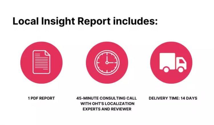 Local Insight Report includes
