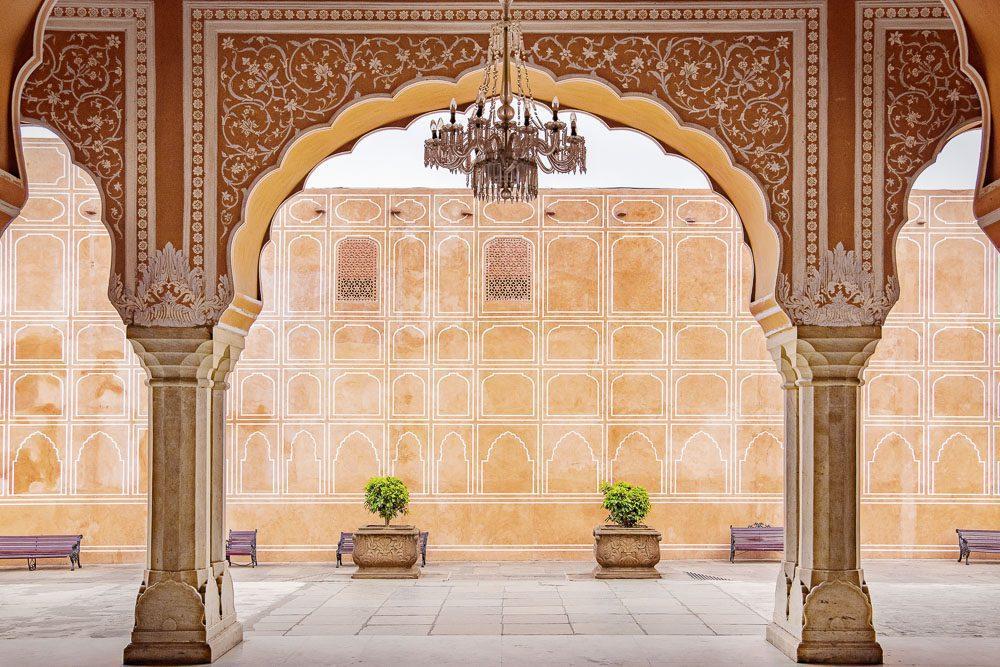 Jaipur city palace in Jaipur city, Rajasthan, India.