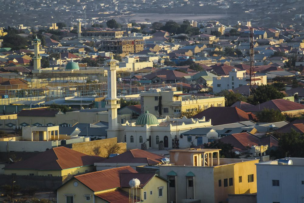 Aerial view to Hargeisa, biggest city of Somaliland Somalia
