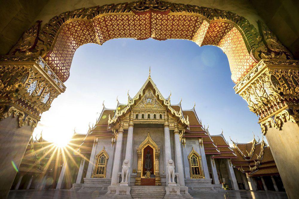 Bangkok City - Benchamabophit  dusitvanaram temple from Bangkok