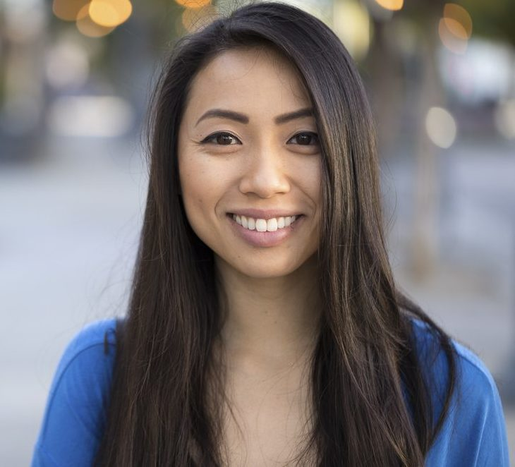 Young Asian woman smile face