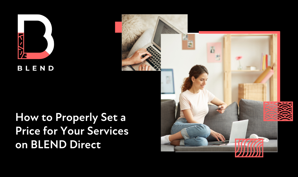 set a price for services blend direct